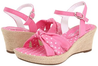 Nina Patty (Youth) (Pink/Polka Dot Twill) - Footwear