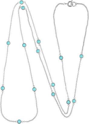 Susan Caplan Vintage Sterling Silver Aquamarine Swarovski Crystal Necklace
