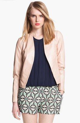 Joie 'Venette' Crop Leather Jacket