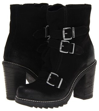 Diesel Hiker Heibuckle Bootie (Black Treated Suede) - Footwear