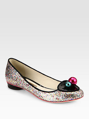 Webster Sophia Millie Bauble-Detail Glitter Flats