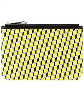 Pierre Hardy PRINT LEATHER POUCH