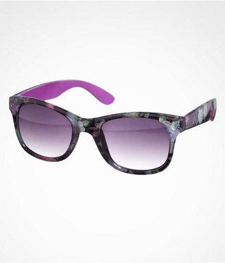 Cat Eye Floral Frame Cateye Sunglasses