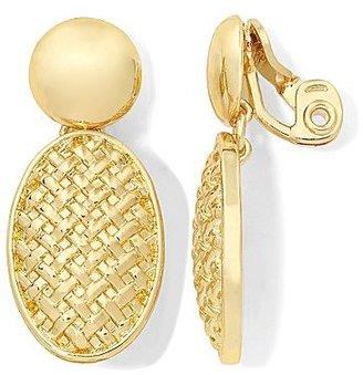 Monet Gold-Tone Woven Double-Drop Earrings