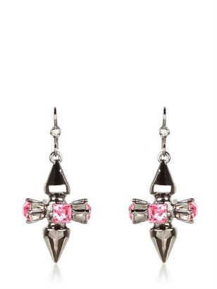 Mawi Double Spikes And Crystal Earrings