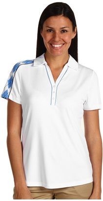 Cutter & Buck DryTec#8482; S/S Fortune Polo Top (White/Bayo) - Apparel