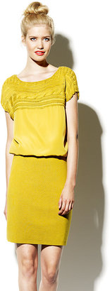 Vince Camuto Sweater Pencil Dress Yellow