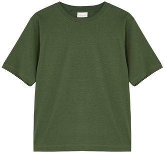 Dries Van Noten Hodu Army Green Cotton T-shirt