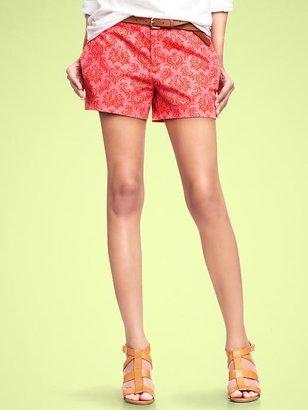 Gap Paisley canvas shorts