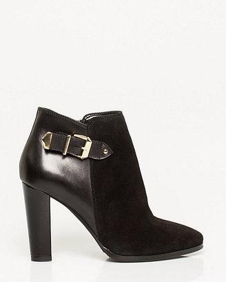 Le Château Italian-Designed Suede & Leather Ankle Boot