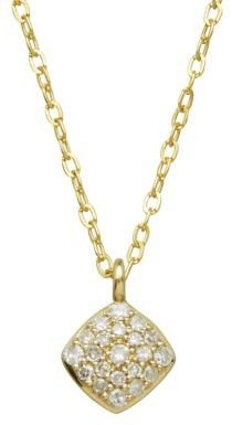 Lord & Taylor 14Kt. Yellow Gold & Diamond Pendant Necklace