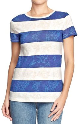 Old Navy Women's Striped-Floral Tees