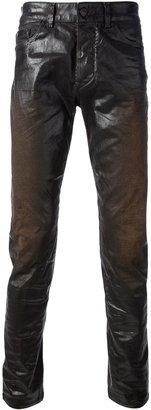Diesel Black Gold 'Superbia' coat skinny jean