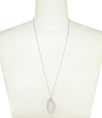 Nadri Novelette CZ Large Pendant Necklace