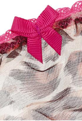 Mimi Holliday Cheeky Minx low-rise leopard-print chiffon briefs