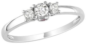 Diamond 1/4 CT Ring 14K White Gold - White