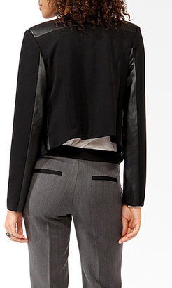 Forever 21 Perforated Panel Moto Jacket