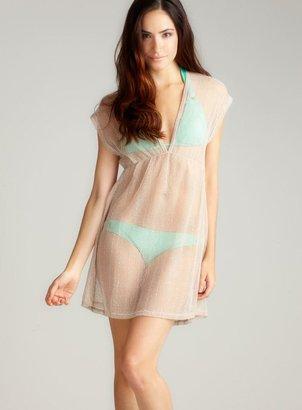 Jordan Taylor Sequin Mesh V Neck Dress
