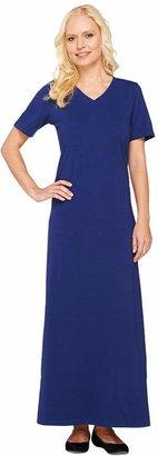 Denim & Co. Essentials Petite Short Sleeve Maxi Dress