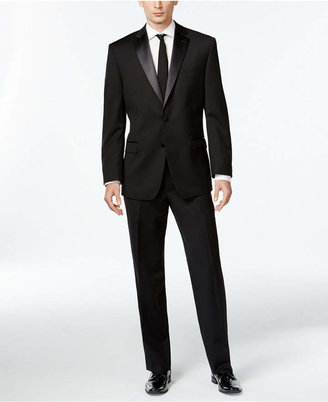 Calvin Klein Black Two-Button Modern-Fit Tuxedo $695 thestylecure.com
