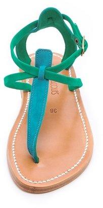 K. Jacques Buffon T Strap Sandals