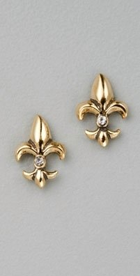 Juicy Couture Fleur de Lis Stud Earrings