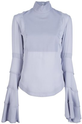 Gareth Pugh flared blouse