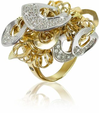 Orlando Orlandini Fashion - Diamond 18K Gold Charm Ring