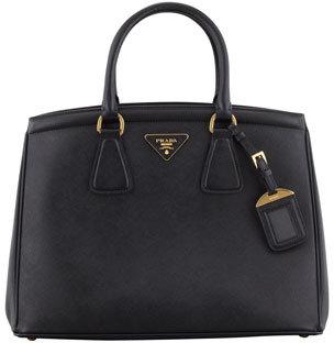 Prada Saffiano Parabole Tote Bag, Black