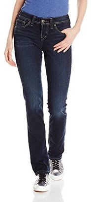 Silver Jeans Women's Suki High Rise Straight Leg Jean $89 thestylecure.com