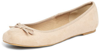 Dorothy Perkins Nude square toe ballet shoes