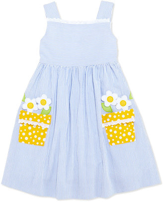 Florence Eiseman Girls' Flower-Pot Seersucker Dress, 4-6X