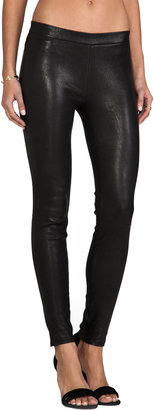 J Brand Leather Pull Up Legging