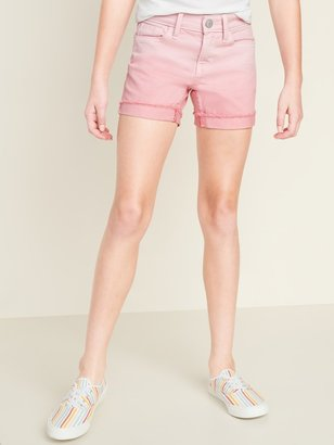 Old Navy Pink Ombre Frayed-Cuff Jean Shorts for Girls