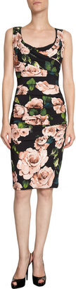 Dolce & Gabbana Ruched Rose Dress