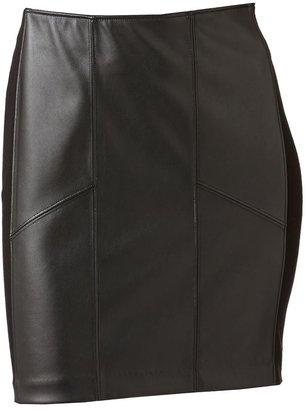 Rock & Republic faux-leather miniskirt