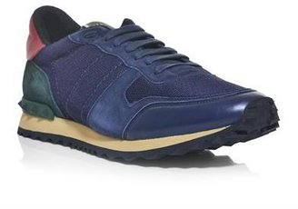 Valentino Nylon, suede and leather trainers