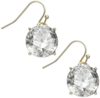 INC International Concepts Gold-Tone Crystal Stone Drop Earrings