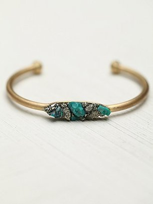 Free People Marly Moretti Pyrite and Stones Cuff