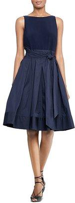 Lauren Ralph Lauren Petites Sleeveless Pleated Dress $198 thestylecure.com