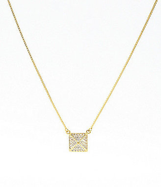 Vince Camuto Pave Pyramid Pendant Necklace