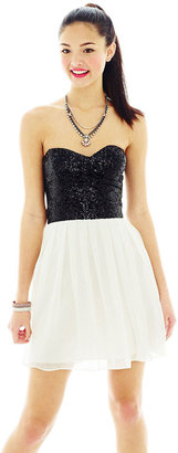BEE SMART Strapless 2-Tone Short Dress $84 thestylecure.com
