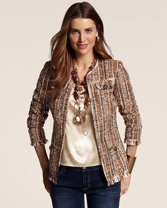 Chico's Fringed Tweed Ina Jacket