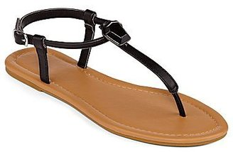 JCPenney Single-Stone T-Strap Thong Sandals