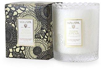 Voluspa Boxed Scalloped Glass Candle, Eden & Pear