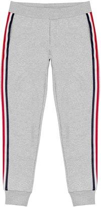 Moncler Grey Striped Cotton Sweatpants
