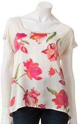 Apt. 9 floral mixed-media top
