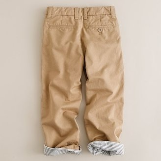J.Crew Boys' lined broken-in chino