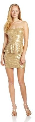 As U Wish Juniors Sequin Peplum Dress