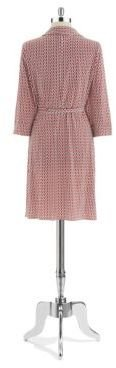 Laundry by Shelli Segal Chain Link Patterned Dress